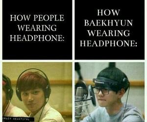 exo, baekhyun, and funny image