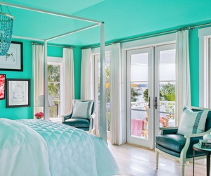 blue, dream room, and girly image
