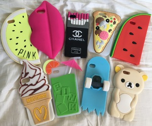 cases, Moschino, and pink image