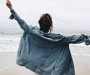 girl, sea, and denimlovee image