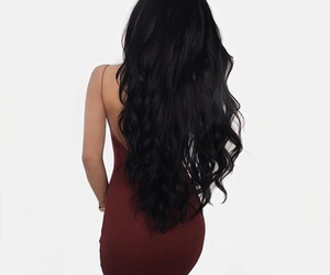 hair, dress, and style image