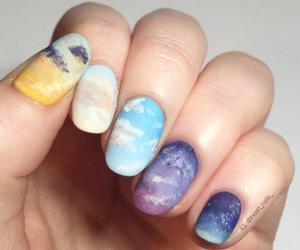 nails, nail art, and sky image