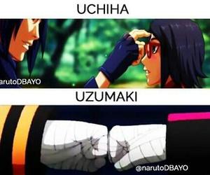 naruto, uzumaki, and uchiha image
