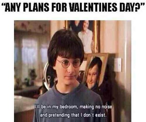 harry potter, funny, and valentines day image