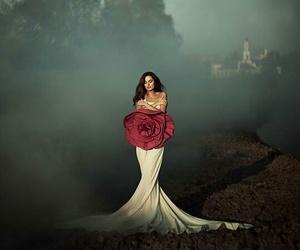 dress, flower, and fashion image