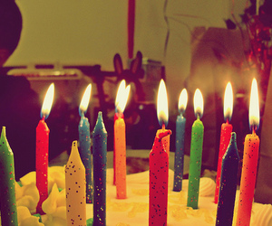 candles, birthday, and cake image