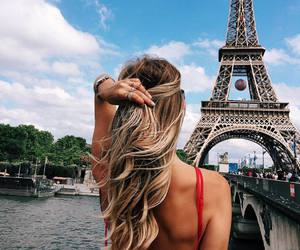 paris, girl, and travel image