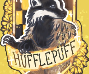 potter, hufflepuff, and harry image
