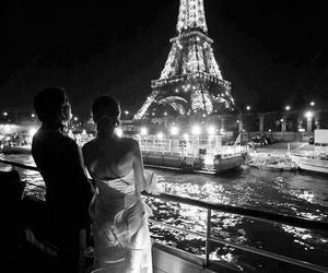 couple, paris, and france image