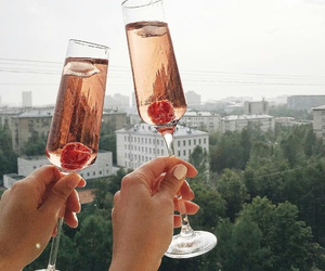 champagne, luxury, and drinks image