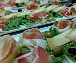 cheese, dinner, and olive image