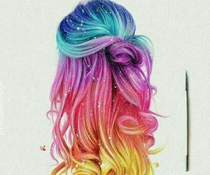 multi colored hair image