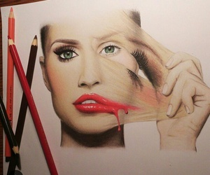 drawing, art, and makeup image