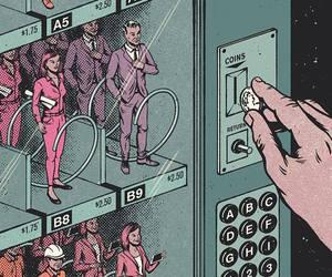 art, comic, and people image
