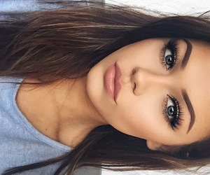 girl, makeup, and beauty image