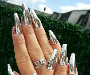 nails, silver, and luxury image