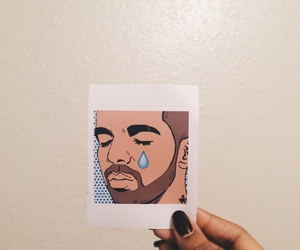 Drake, art, and cry image