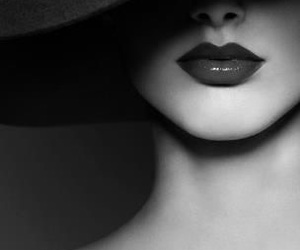 lips, black and white, and photography image