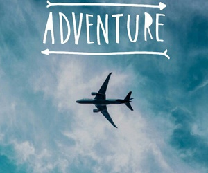 adventure, airplane, and quote image