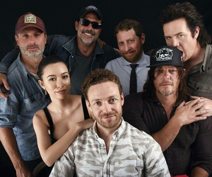 the walking dead, norman reedus, and aaron image