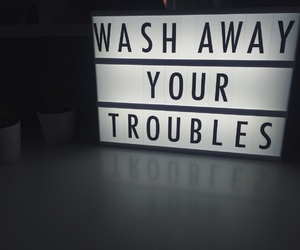 trouble and quote image