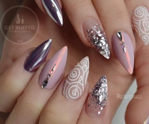nails, glitter, and art image