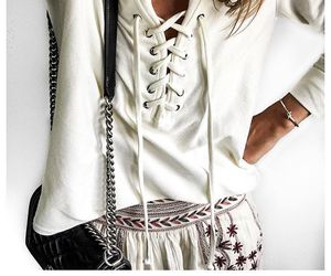 chanel, details, and lace up image
