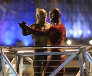 behind the scene, the flash, and barry allen image