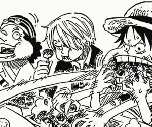 one piece, luffy, and sanji image