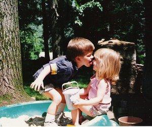 kids, boy, and kiss image