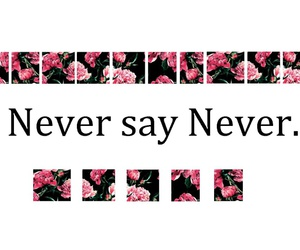 claim, flower, and never say never image