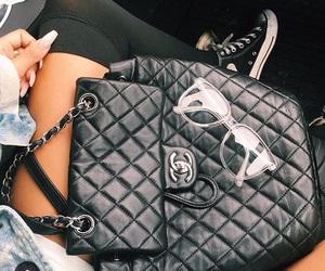 bag, girl, and glasses image