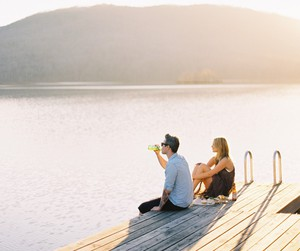 couple, lake, and love image