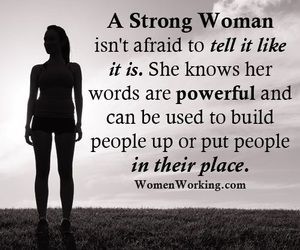 quote, woman, and strong image