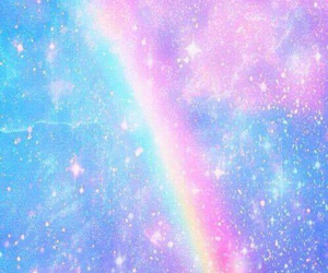 rainbow, galaxy, and wallpaper image