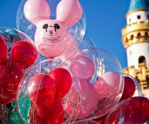 balloons, miki mouse, and disney image