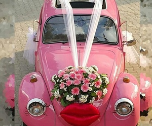 fusca, rosa, and vw image