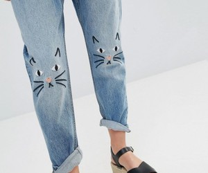 jeans and cat image