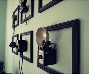 camera, vintage, and wall image