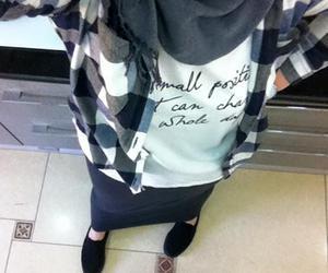 fashion hijab, stylé, and style hijab image