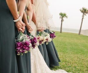 flowers, green, and wedding image