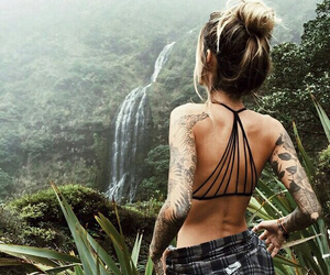 jungle, waterfall, and mood image