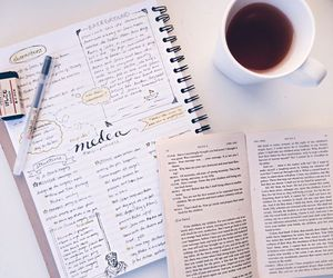 coffee, college, and journal image