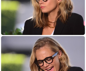 classy, glasses, and laugh image