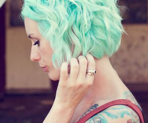 hair, color, and tattoo image