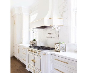 gold, kitchen, and marble image