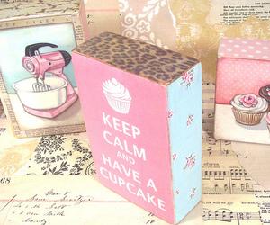 cupcake and keep calm image
