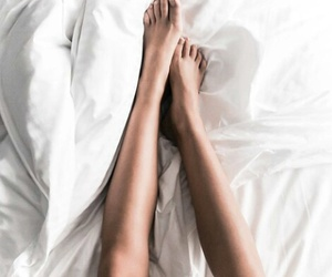 bed, legs, and feet image