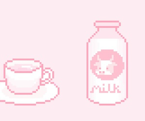 art, pale, and pink image