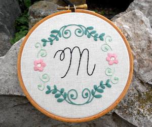 etsy, embroidery art, and flower embroidery image